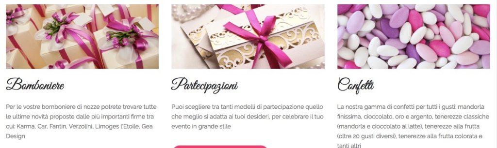 confetti mandorla e frutta Milano e provincia